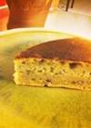 フライパンで作る♪おからと小豆のケーキ