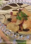*サツマイモとリンゴのレーズン煮*