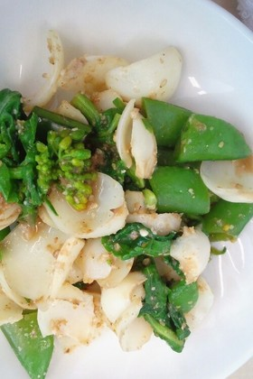 簡単☆醤油麹で春野菜胡麻和え