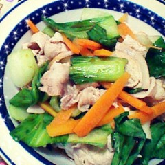 豚しゃぶチンゲン菜サラダ♪