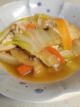 鍋に入れて煮るだけ!油あげと白菜の煮浸し