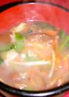 きのこと春野菜の中華スープ