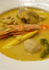 タイ風シーフードカレースープ