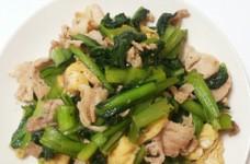 小松菜の生姜炒め