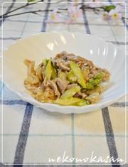 簡単*豚肉とベビーホタテの塩麹炒めの写真
