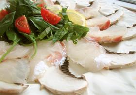 ギガマッシュと真鯛のカルパッチョ♪