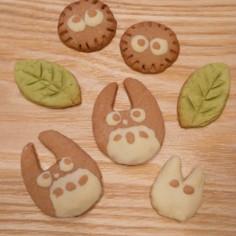 トトロとまっくろくろすけのクッキー♪