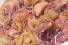 鶏モモとキャベツの塩麹炒め