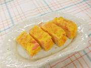 お花見弁当にお薦め!! 桜漬け入り卵焼きの写真
