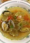 カレー風味アサリのスープ