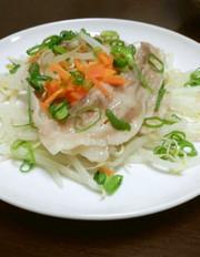 簡単!もやしと豚バラの温野菜サラダの写真