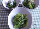 小松菜のおひたし三種