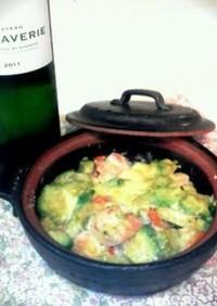 白ワインに!アボカドとエビのチーズ焼き