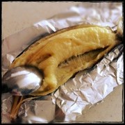 トースターde♡焼きバナナの写真