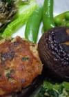 椎茸のシーチキン載せ焼き
