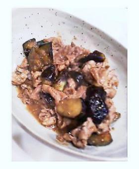 豚肉茄子のゴマミソ炒め