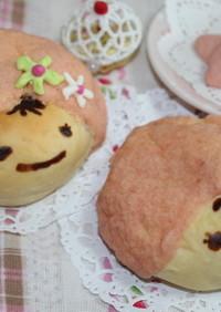 可愛い♡キャラパン♡赤ずきんちゃんパン♡