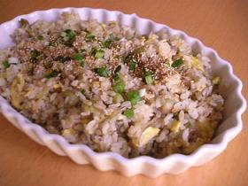 茄子とちりめんの焼き飯~柚子胡椒風味~