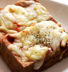 簡単♪トースターで厚揚げのピザ風