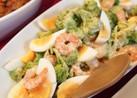 えびとゆで卵の簡単サラダ