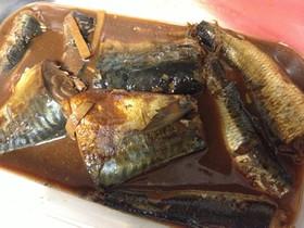 サバとイワシの味噌煮連合(圧力鍋)