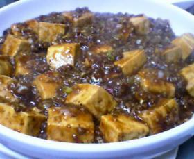 ピリッと麻婆豆腐。