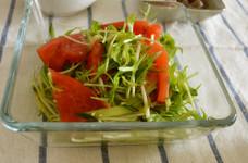 ◆トマトときゅうりの中華ごま和え♬