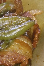 簡単豚肉とピーマンの醤油煮の写真
