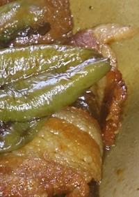 簡単豚肉とピーマンの醤油煮