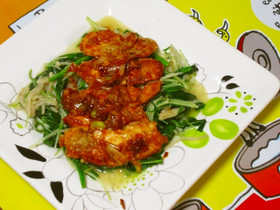 炒め野菜と♪メカジキのピリ辛香味焼き