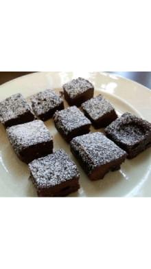 レンジで5分♪もっちりチョコケーキ