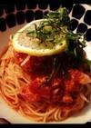 トマトとツナの冷製カッペリーニ*ランチに