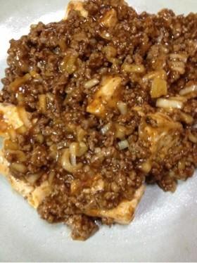 中華合わせ調味料で☆挽肉たっぷり麻婆豆腐