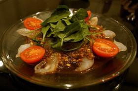 真鯛のカルパッチョ バルサミコソース