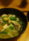春野菜たっぷり豚汁☆花冷えの温か汁物