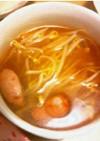 隠し味は…ソーセージもやしのトマトスープ