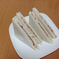 イチゴジャム&ツナのさっぱりサンドイッチ