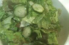 バルサミコのシンプルサラダ