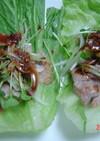 巻き巻きレタス甜面醤サラダ