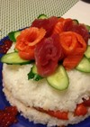 簡単‼記念日♪誕生日に♪寿司ケーキ