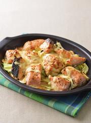 【糖質オフ】鮭とキャベツの味噌マヨ焼きの写真