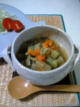 あったかい☆ころころ野菜のスープ