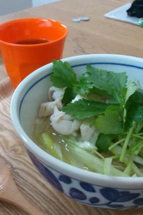 ベトナム風★鶏のスープごはん