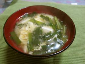 ニラと豆腐のふんわり玉子味噌汁☆