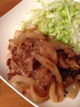 玉ねぎ>お肉の生姜焼き♪