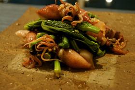 簡単!菜の花とホタルイカの洋風酢味噌和え