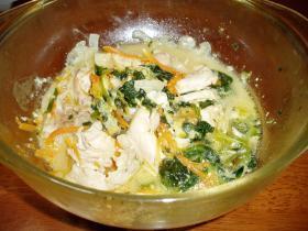鶏肉のレンジ味噌チーズ蒸し