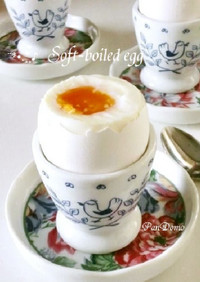 エッグスタンドde半熟卵