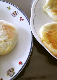 チーズとクリームの平焼きパン2種