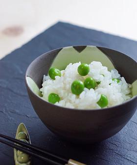 ぷっくり♪豆ご飯 (グリンピースご飯)